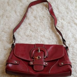 Merona Red Faux Leather Mini Shoulder Bag